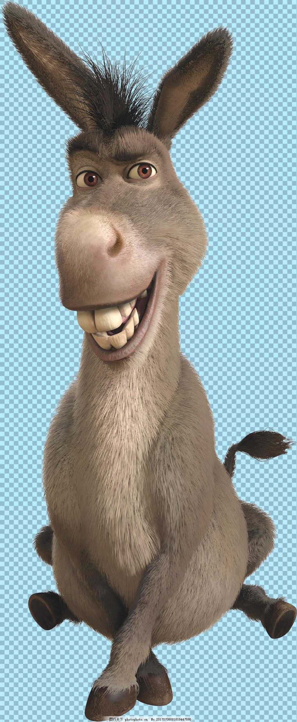 可爱3d驴图片免抠png透明图层素材,家畜动物 可爱动物
