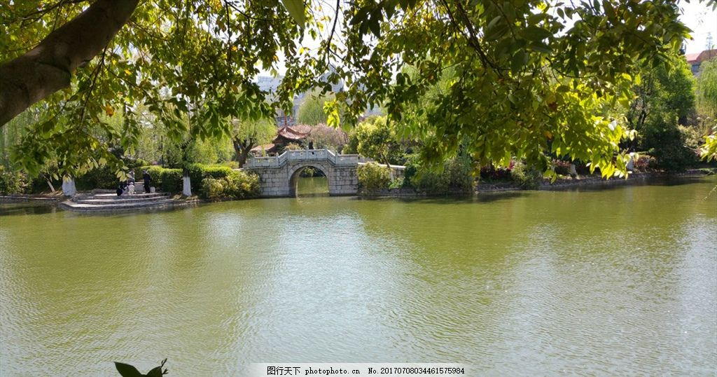 小桥流水人家 湖景 拱桥 公园美景 绿水 原创摄影