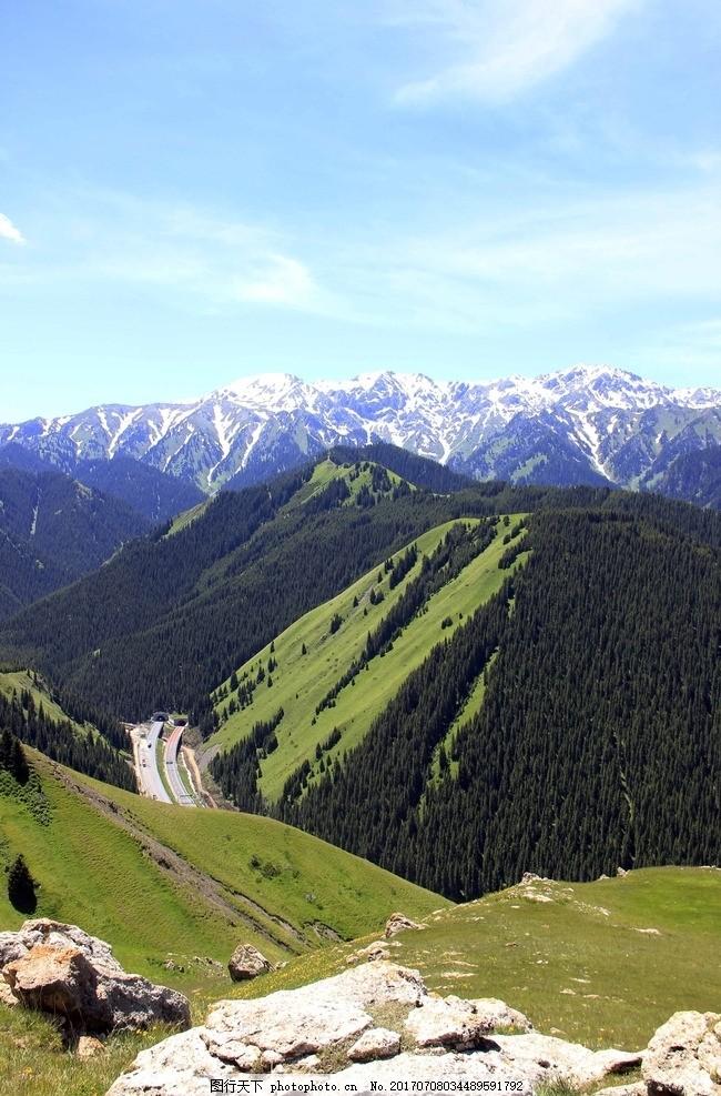 伊犁 新疆美景 雪山 草原 山水风光 摄影辑 摄影 自然景观 山水风景 7