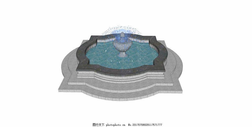 花式喷泉效果图