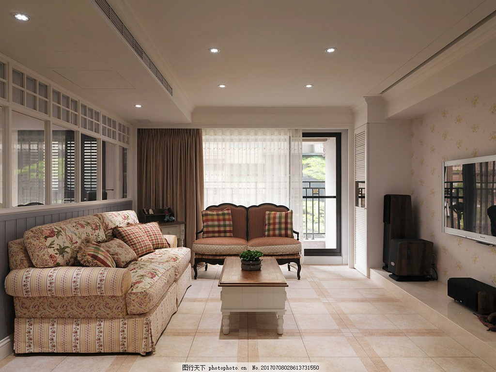 现代时尚客厅装修效果图 室内装修效果图图片 室内设计 设计素材