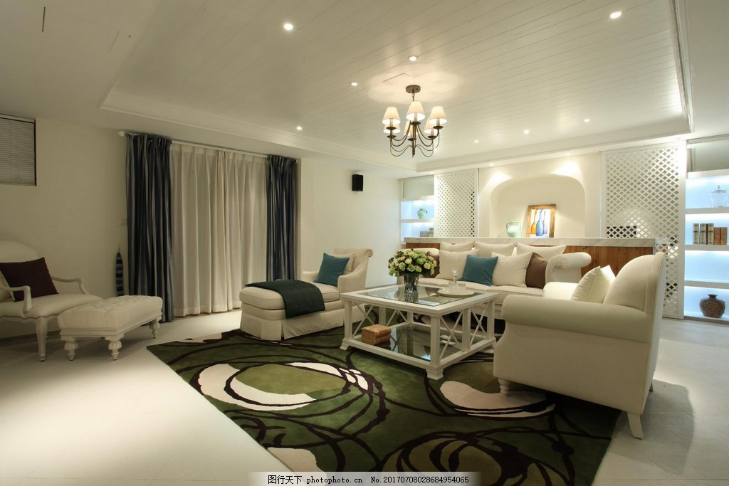 现代别墅客厅装修效果图 室内装修效果图图片 时尚 室内设计 设计素材