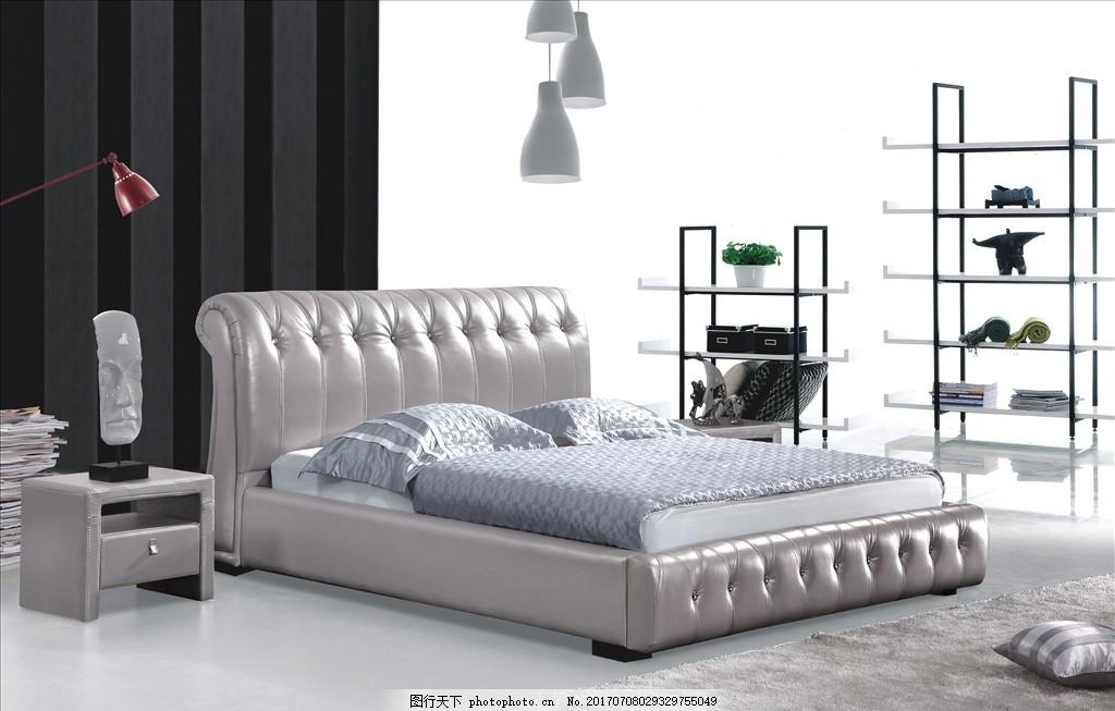 软体床系列 软床 皮床 布床 床具 大床 床家具 床背景 软床背景