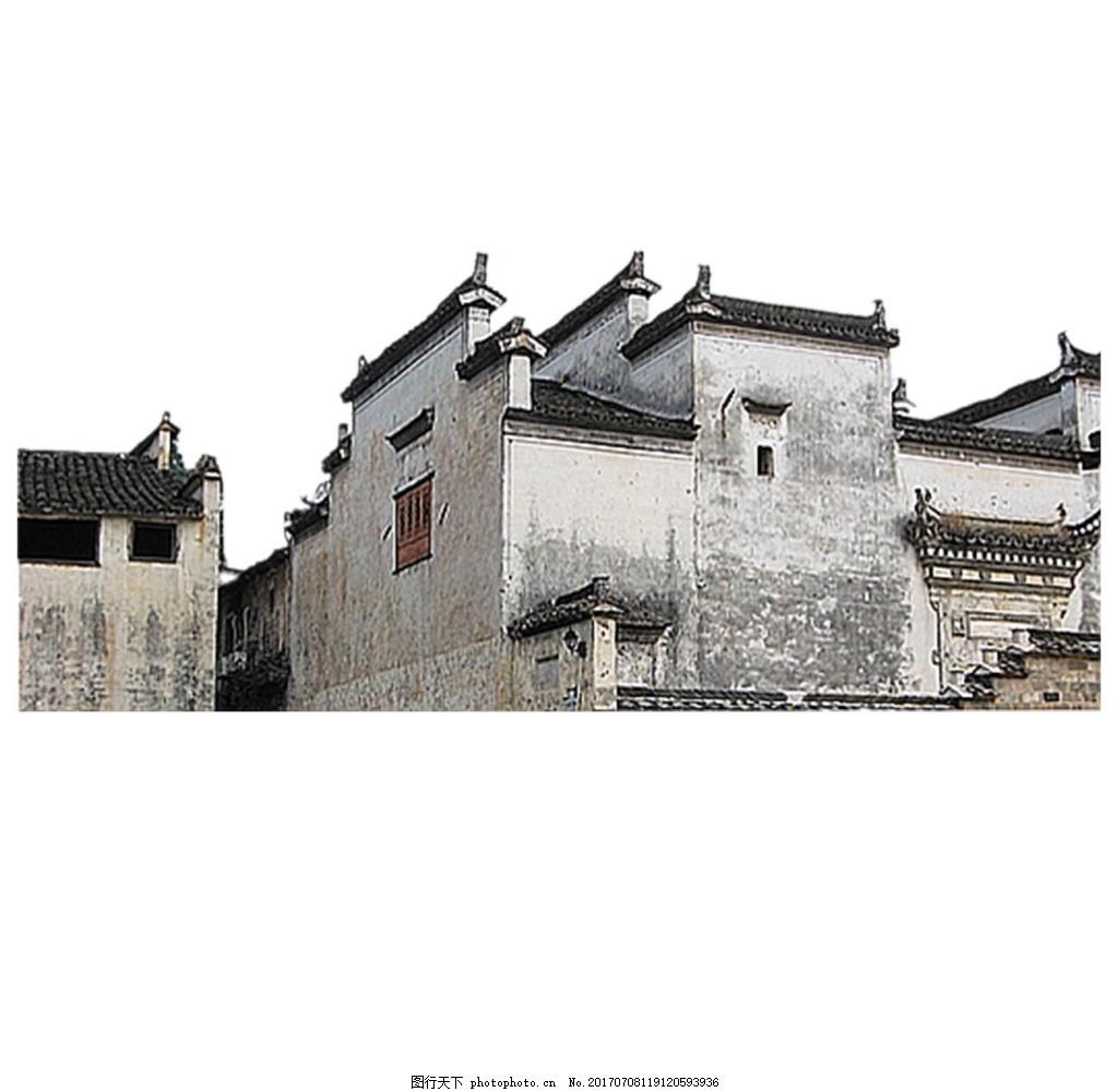 手绘复古房子png元素 中国风 古代房子 素描 复古建筑 欧式 卡通房子