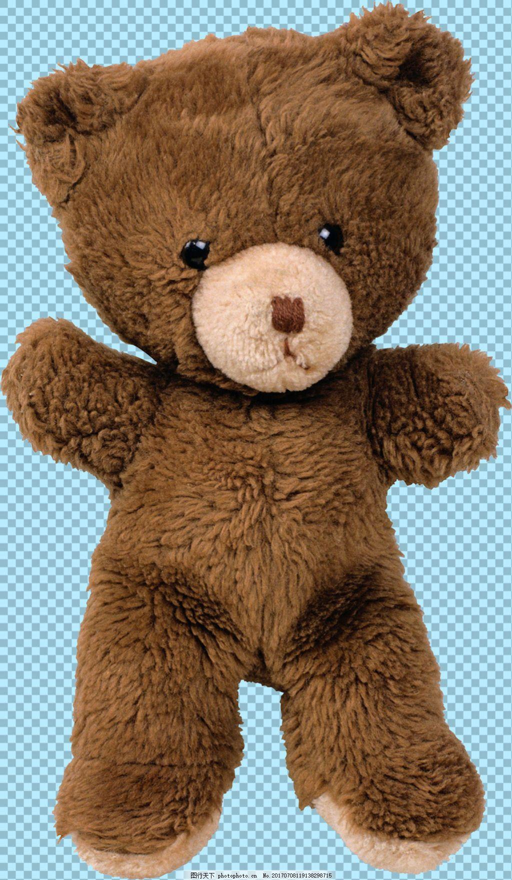 可爱布偶玩具熊图片免抠png透明图层素材