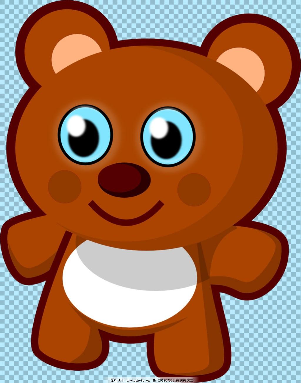 可爱手绘卡通熊图片免抠png透明图层素材 动物图片大全 可爱动物图片