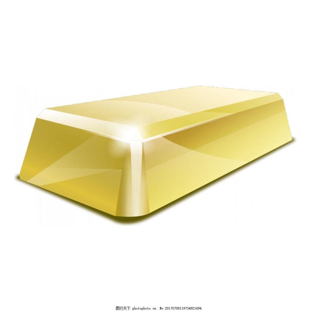 黄色立体几何元素 手绘 阳光 黄色几何 金条 免抠