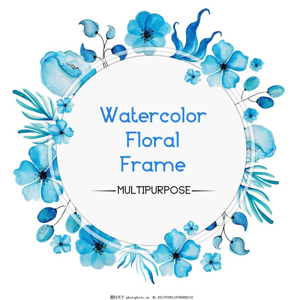花卉边框 唯美 手绘花卉 花卉花朵 蝴蝶 背景素材 矢量素材 手绘植物