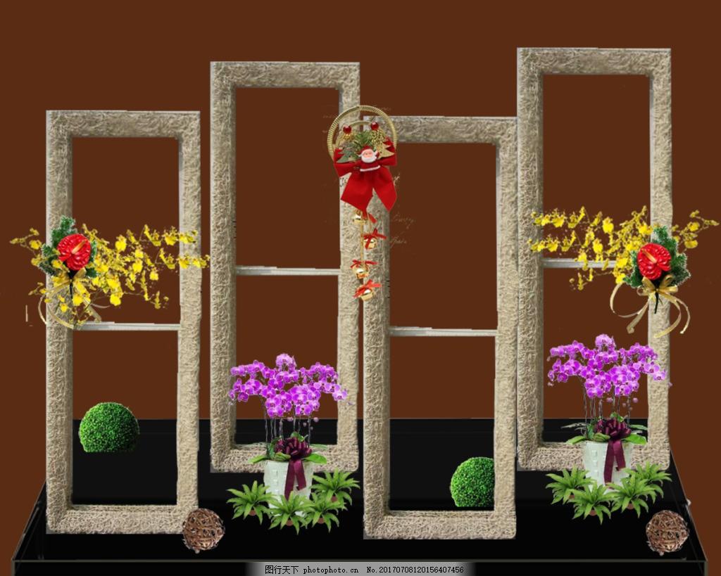 室內植物花架小品景觀元素