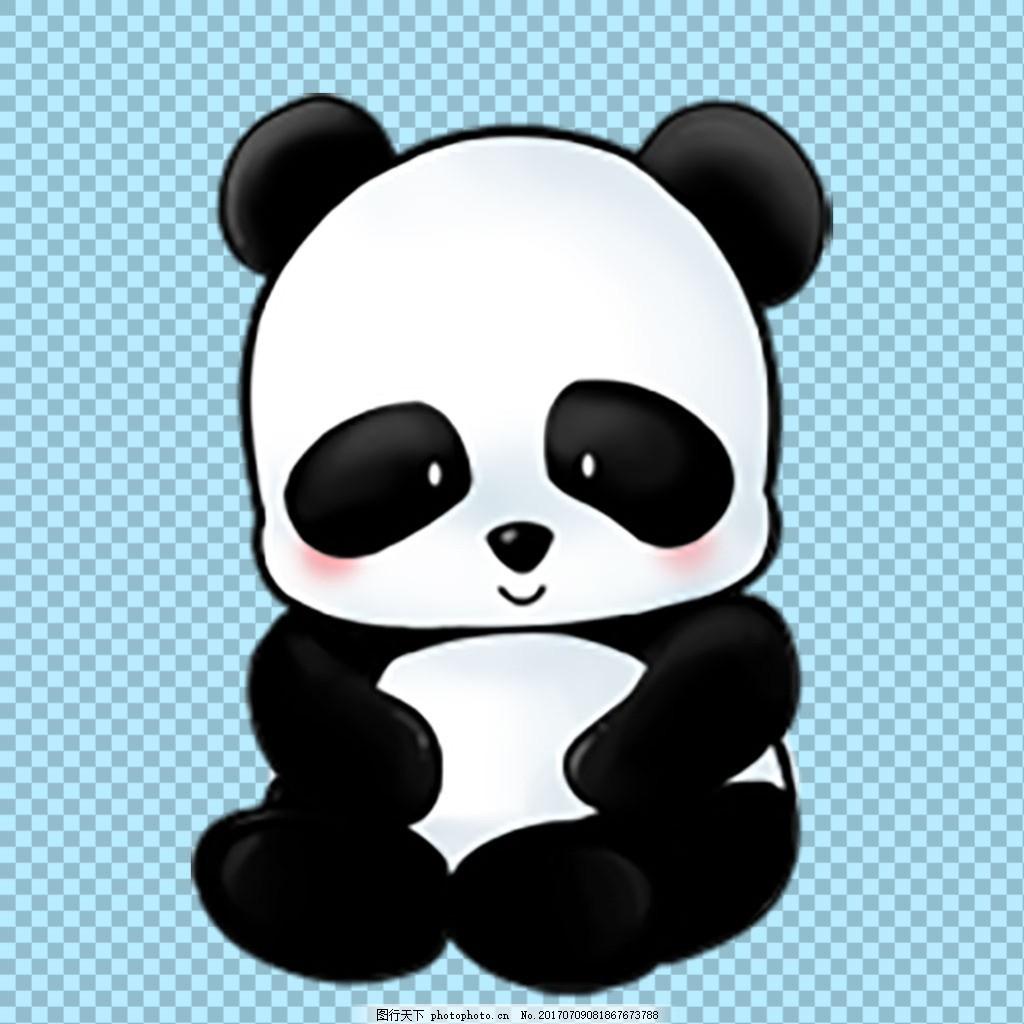 可爱的小熊猫免抠png透明图层素材 野兽 可爱动物图片 家禽 家畜 动物