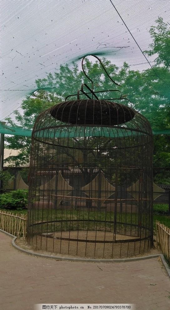 大鸟笼 造型 布景 鸟笼子 大鸟笼子 动物园 天津动物园 出游日记