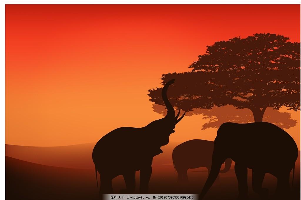 大象 星空 夜晚 月亮 山峰 树木 草原 长劲鹿 骆驼 非洲 荒野景色 风景 大自然 动物 户外 山川 山峦 连绵起伏 光 抽象 红色天空 傍晚 日落 晚霞 荒野生存 西部 沙漠 干燥 仙人掌 剪影 人物剪影 动物剪影 矢量图片 设计 广告设计 卡通设计 EPS