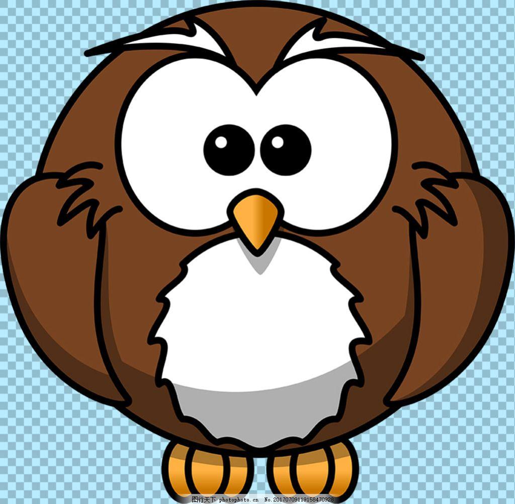 可爱卡通猫头鹰免抠png透明图层素材