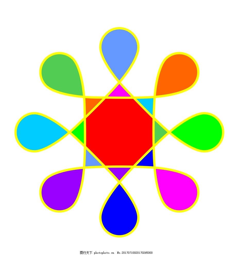 彩色花纹 色彩 三角形 圆形 底纹 其他图标