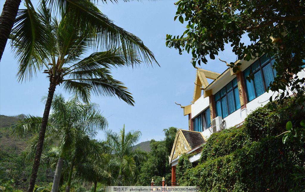 东南亚风情 热带建筑 椰树 西双版纳 云南 摄影 国内旅游