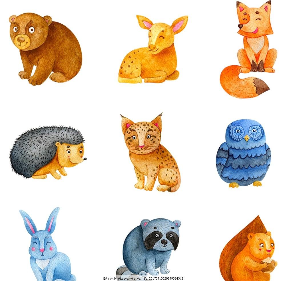 手绘小动物 手绘动物 动物 插画狮子 手绘 水彩 插画 素描 手绘素描