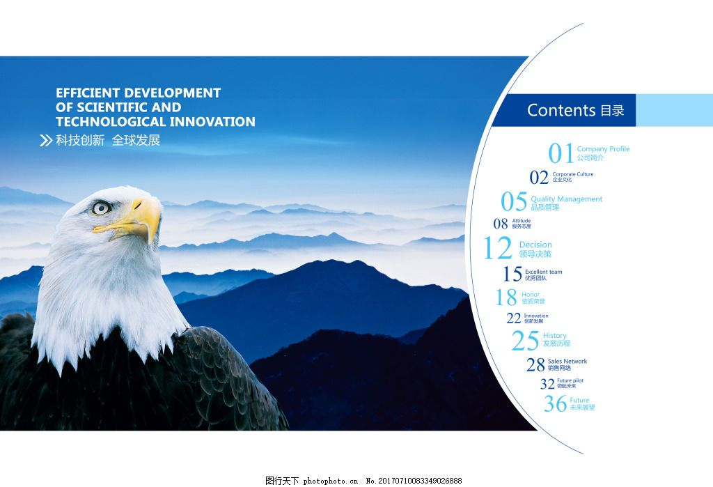 企业文化目录首页 企业画册目录 科技创新 全球发展 雄鹰 山水