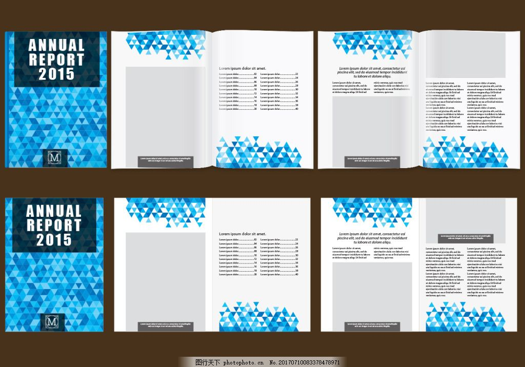蓝色格子背景时尚宣传画册 企业宣传画册 高档画册 画册设计 矢量素材