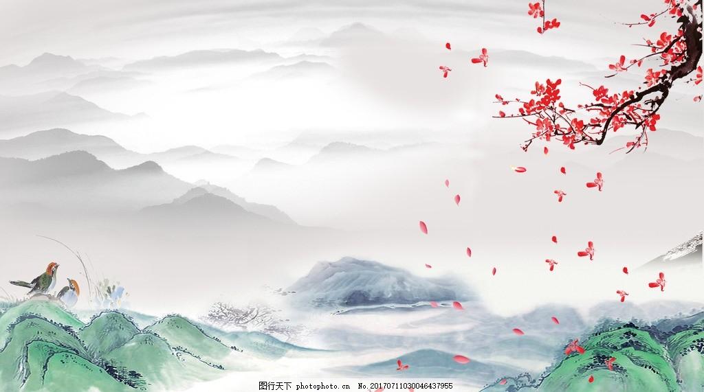 春晓 春天 山水 国画 风景 诗歌 设计 广告设计 海报设计 72dpi psd