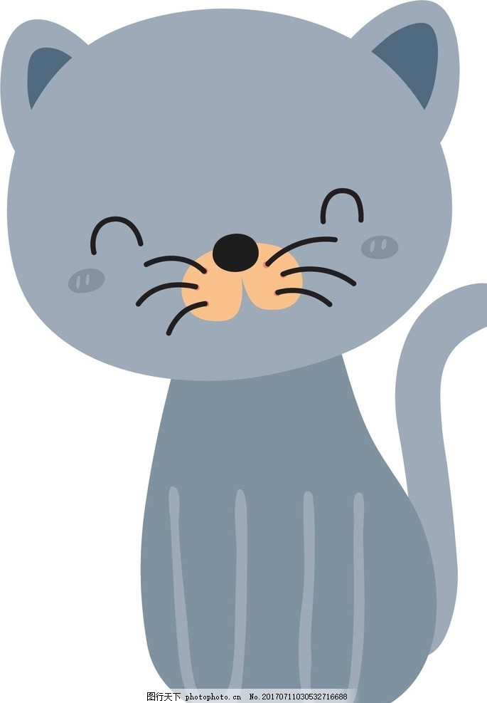 猫 卡通动物 动漫卡通 可爱 贺卡 动物插画 插画 儿童绘本 儿童画画