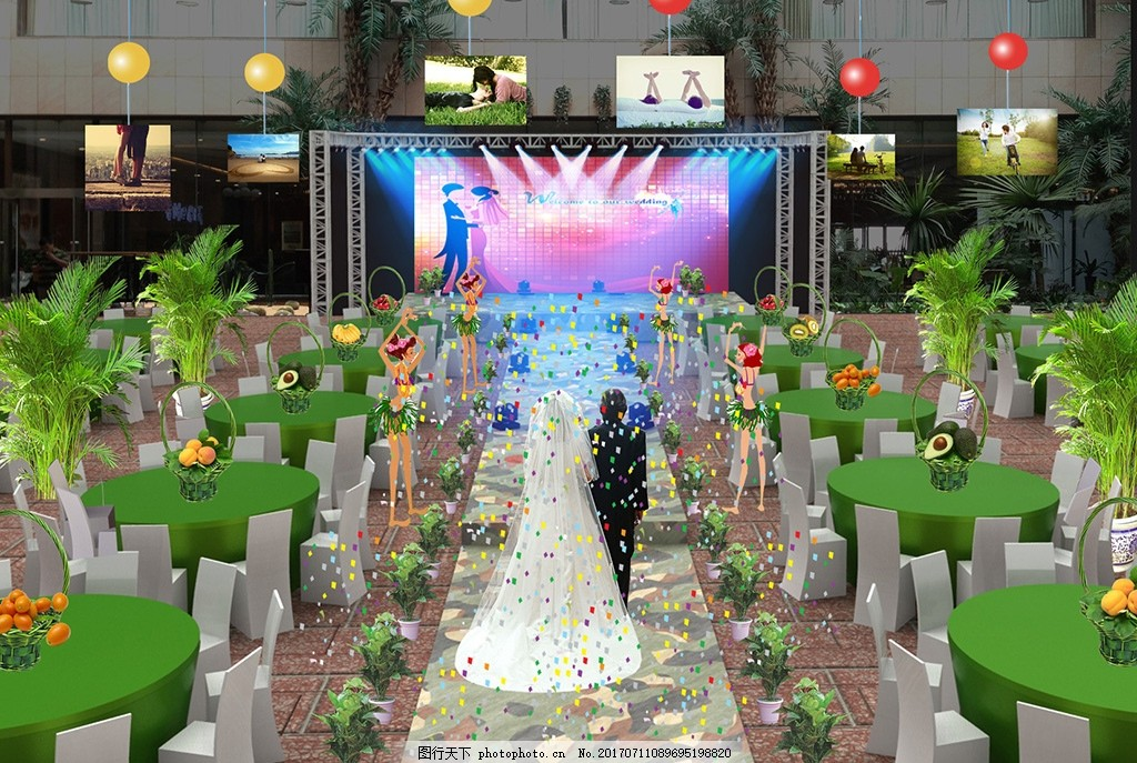 森林背景 森林婚礼背景 梦幻森林 森系照片墙 复古婚礼 欧式婚礼背景
