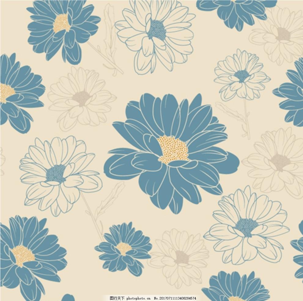 花卉海报 创意 高端 大气 欧美 美术 手绘素材 花朵 植物 玫瑰 森系