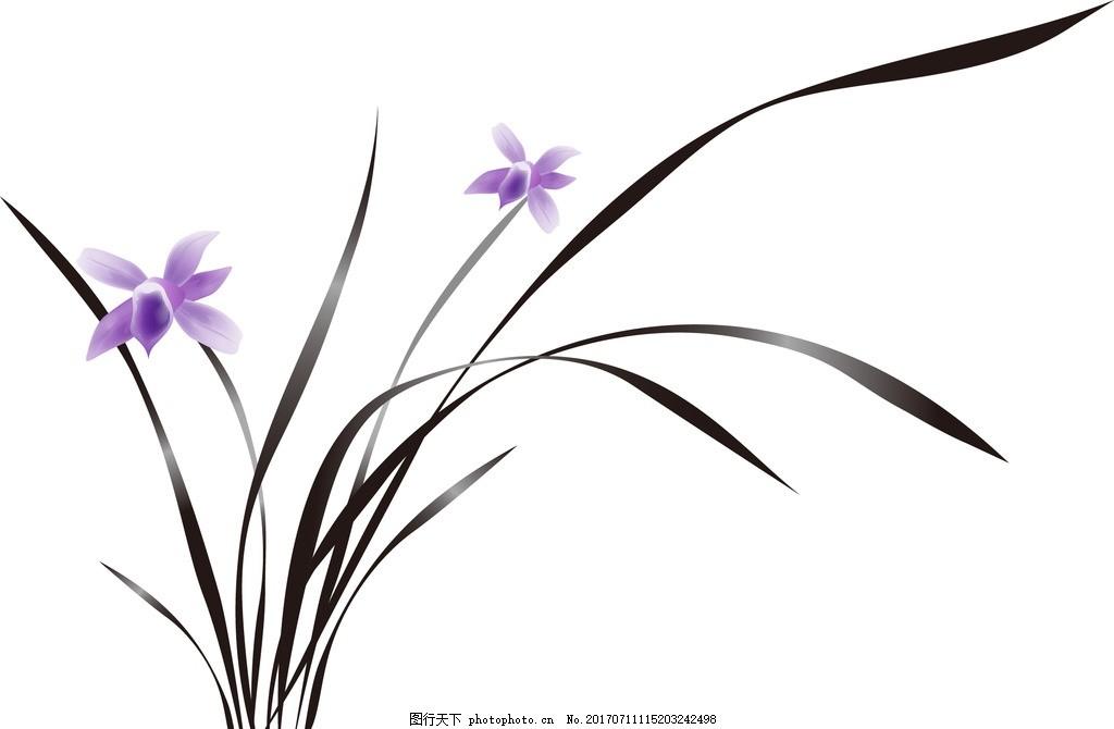 水墨画 中国元素图案 喜庆花纹背景 中国风图案 中国传统印花 中国