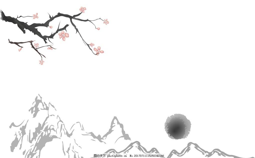 中国风面料 红色梅花图案 中国传统服饰 喜庆梅花背景 喜庆桃花背景