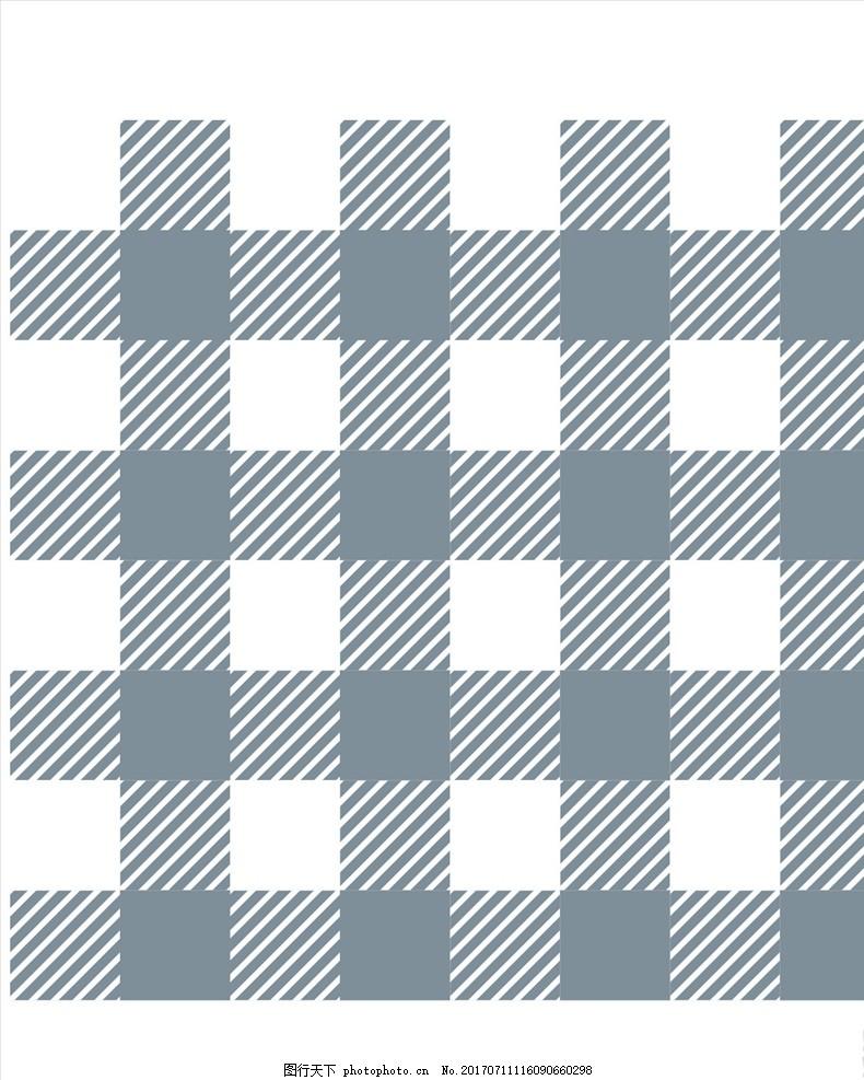 格子布料四方连续底纹 服装设计 潮牌设计 面料印花 布料印花 贴纸