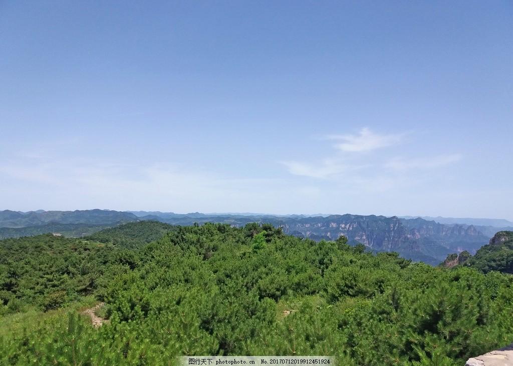 风景照 景观 自然 摄影 群山 山顶 绿树 旅游 太行山 王莽山旅游摄影