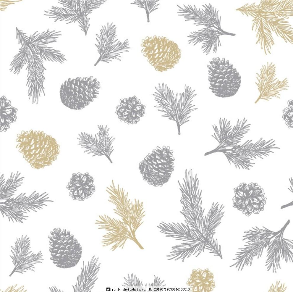 潮牌设计 面料印花 布料印花 贴纸图案 树叶 手绘树叶 树叶纹路 绿叶