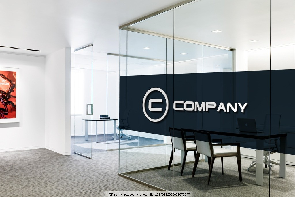 logo效果图 公司 前台 效果图 形象墙 psd文件 公司前台 设计 psd分层图片