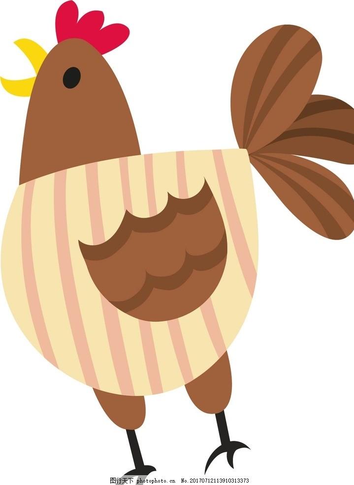 卡通鸡,卡通动物 动漫卡通 可爱 贺卡 动物插画 儿童