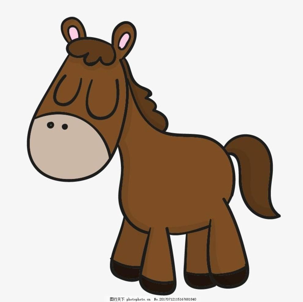 卡通驴 卡通动物 动漫卡通 可爱 贺卡 动物插画 儿童绘本 儿童画画