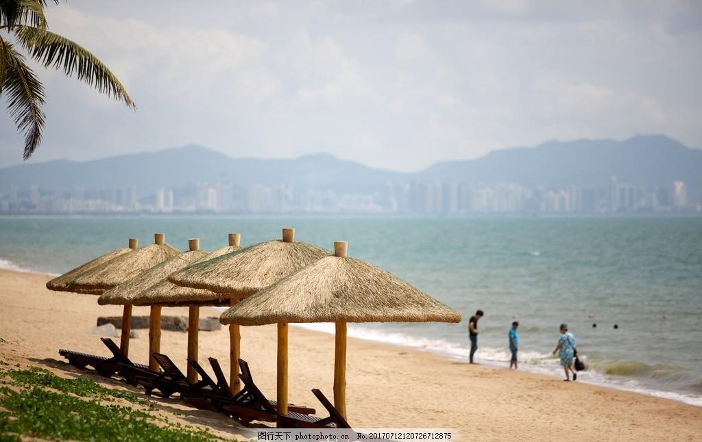 酒店沙滩 沙滩 海边 美景 浪漫 旅游 景摄 摄影 自然景观 自然风景