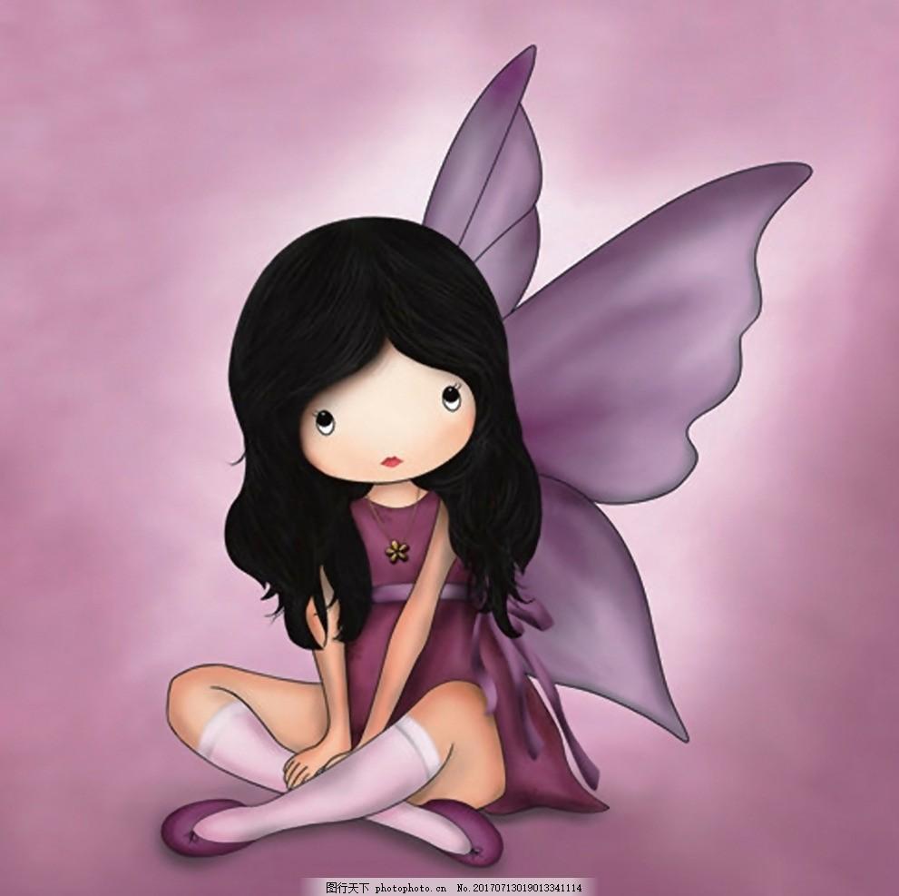 花花姑娘 小女孩 可爱女孩 卡通画 手绘 人物 装饰画
