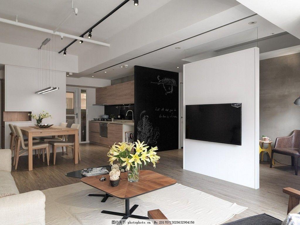 现代简约客厅背景墙效果图 室内设计 家装效果图 现代装修 家居背景墙