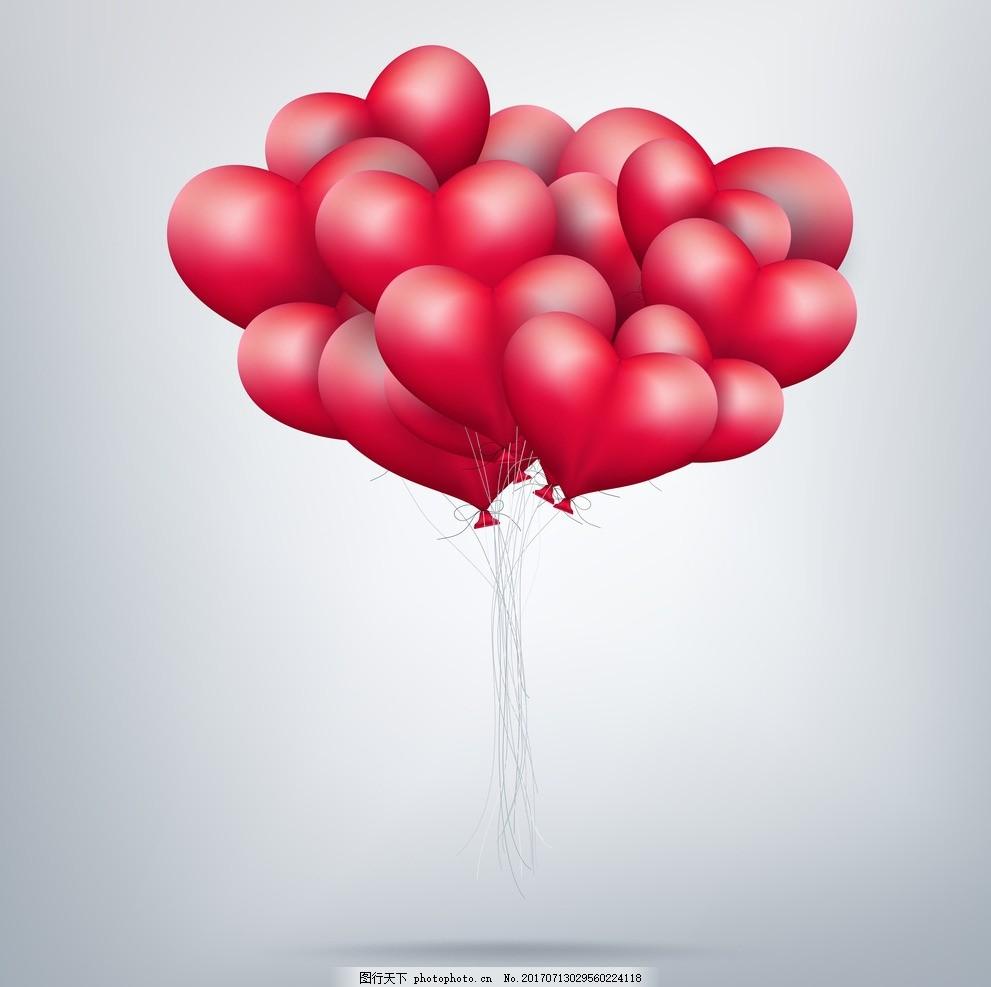 情人节气球 情人节 爱心 玫瑰花 情人节海报 浪漫情人节 情人节背景