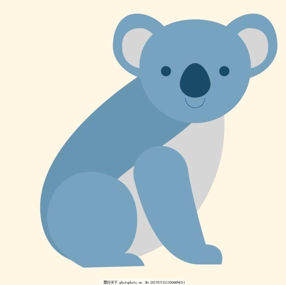 考拉 卡通动物 动漫卡通 可爱 贺卡 动物插画 插画 儿童绘本 儿童画画