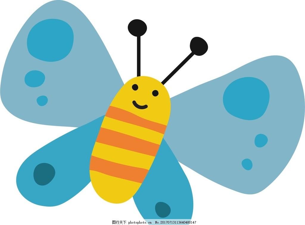 设计图库 商用素材 食品饮料  卡通蝴蝶 卡通动物 动漫卡通 可爱 贺卡