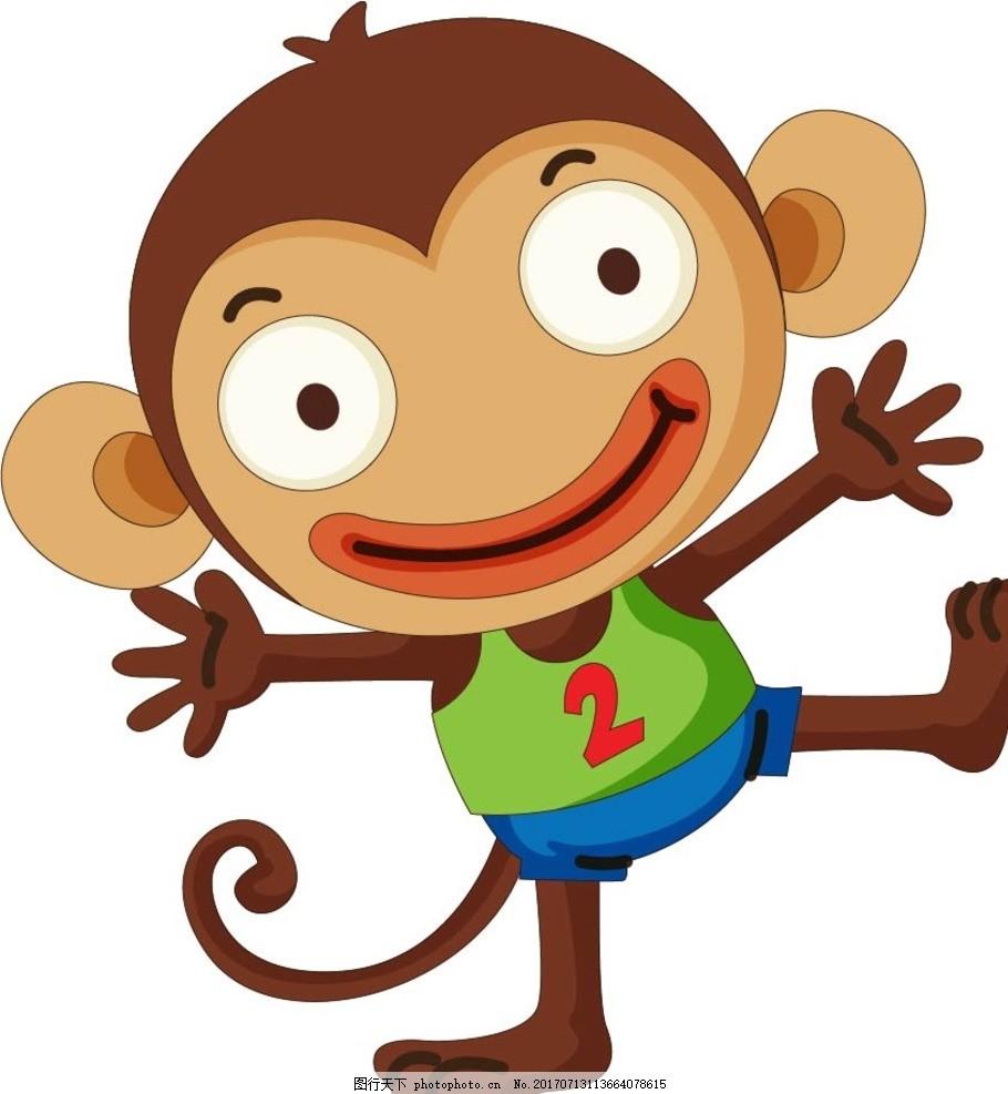 卡通猴子 卡通动物 动漫卡通 可爱 贺卡 动物插画 插画 儿童绘本 儿童