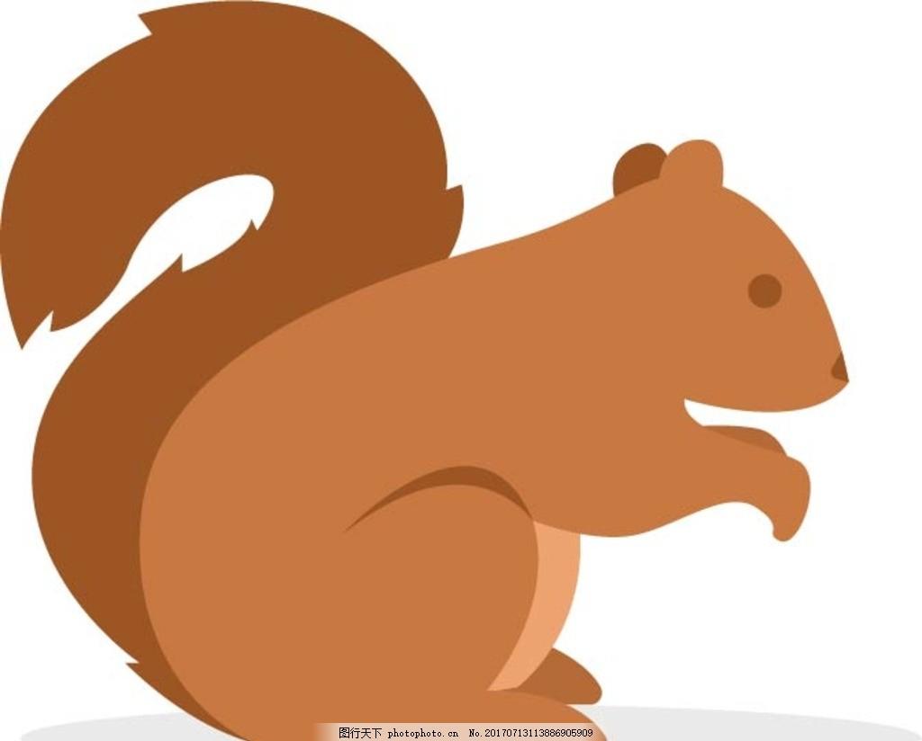 卡通松鼠 卡通动物 动漫卡通 可爱 贺卡 动物插画 儿童绘本 儿童画画