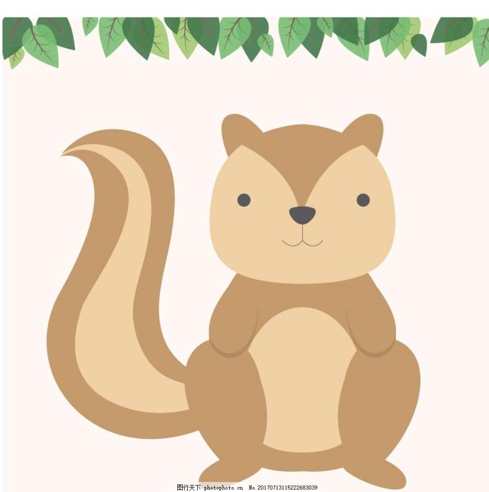 卡通松鼠 卡通动物 动漫卡通 可爱 贺卡 动物插画 插画 儿童绘本 儿童