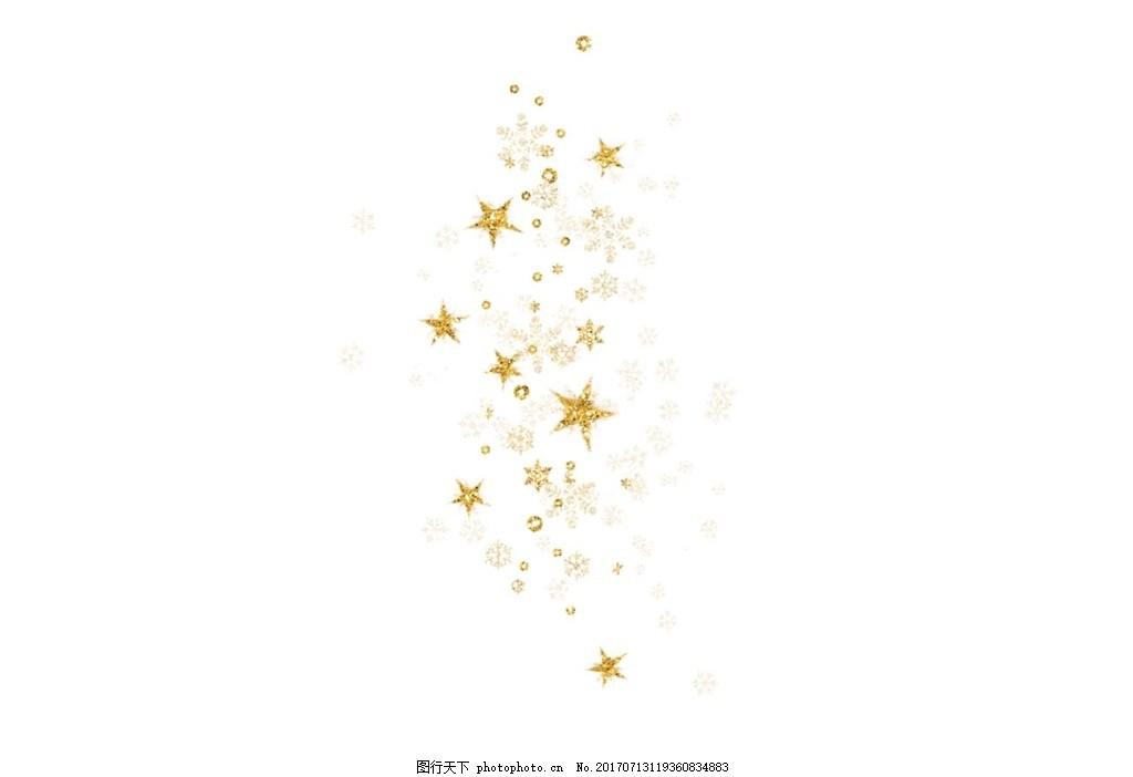 星星漂浮png元素 手绘 金色 花纹背景 星星花纹背景 五角星花纹背景