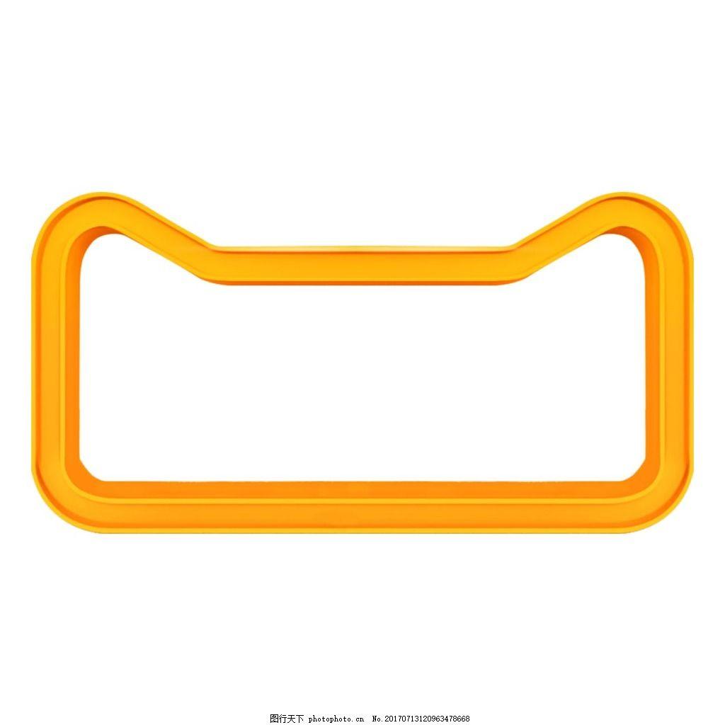 手绘黄色几何元素 几何边框 线条边框 免抠