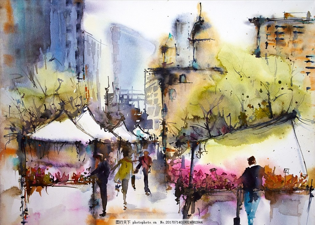 水彩画 水彩风景 风景水彩 高考 高考水彩 写生 绘画 艺术 水彩作品