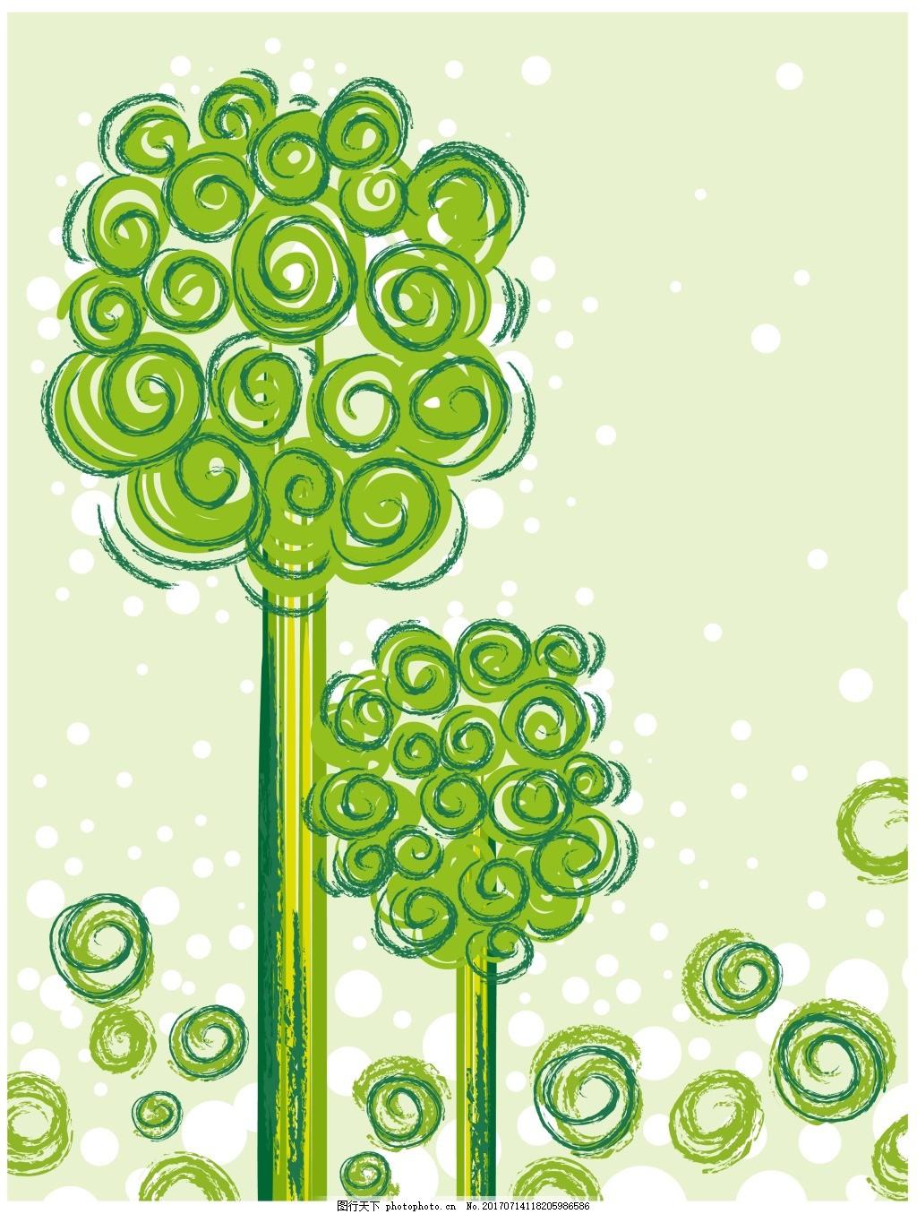 绿色时尚花纹图案 抽象花纹 服装 纹理 手绘花纹 欧美花纹 花纹背景