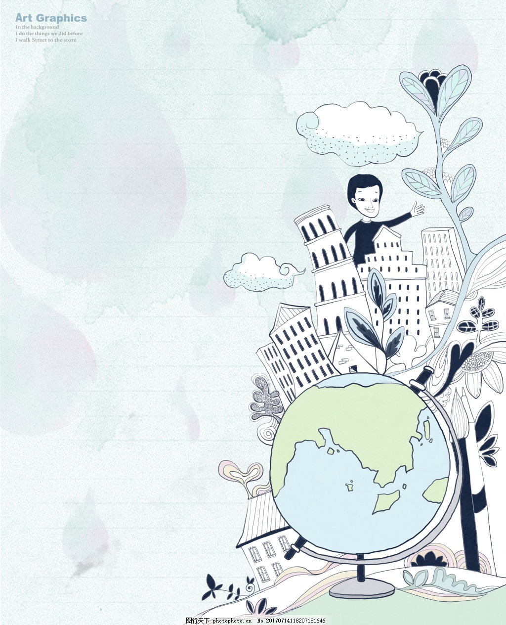 经典花纹 韩国时尚花纹 背景底纹 手绘背景 卡通背景 简约背景 创意