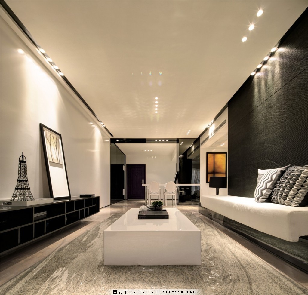 现代简约客厅背景墙效果图 设计素材 室内装修 现代装修 家居背景墙效