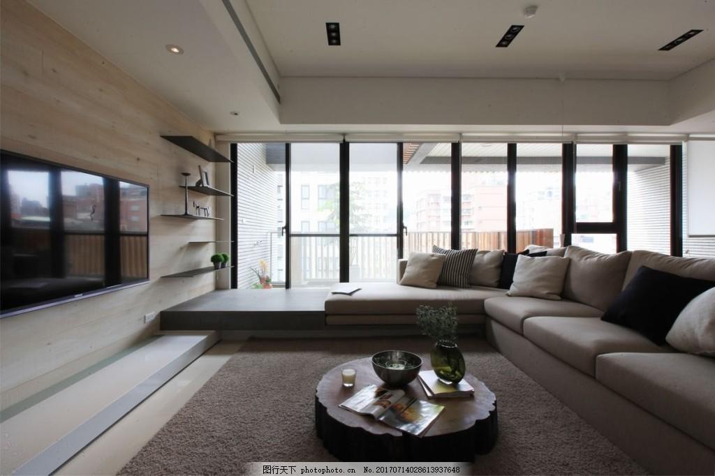 港式客厅背景墙效果图 室内设计 家装效果图 壁纸 木质背景墙 沙发